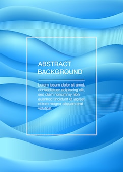 Fondo astratto blu con le onde. concetto di mare. illustrazione vettoriale