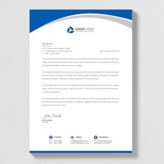 Progettazione astratta blu di vettore della lettera della lettera.