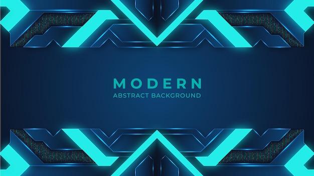Fondo moderno astratto blu che illumina il fondo digitale