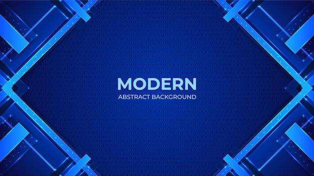 Fondo moderno astratto blu con forme geometriche Vettore Premium
