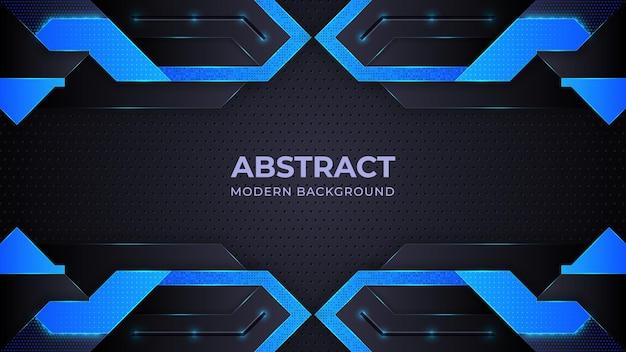 Fondo moderno astratto blu con forme geometriche