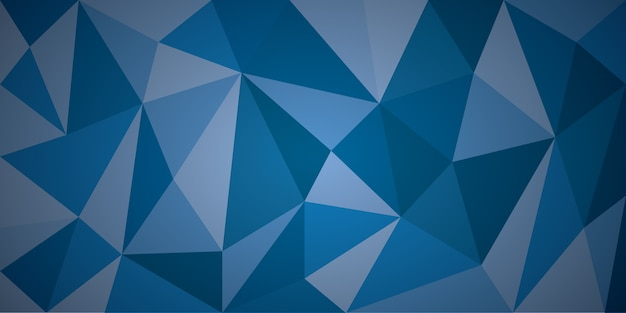 Sfondo astratto blu poligono