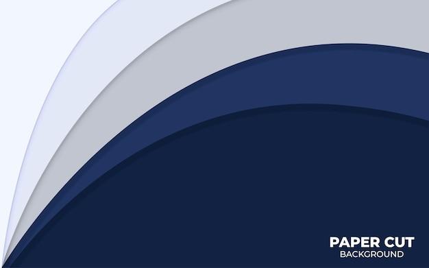Sfondo di forma astratta blu con strato di sovrapposizione