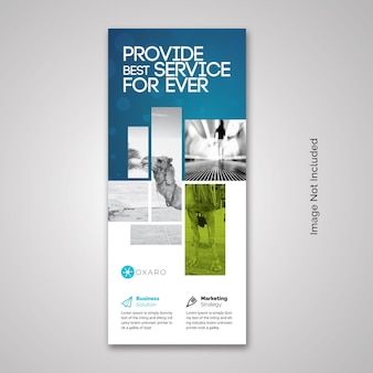 Accento blu business rollup x-banner