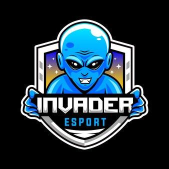Alieno blu, logo mascotte