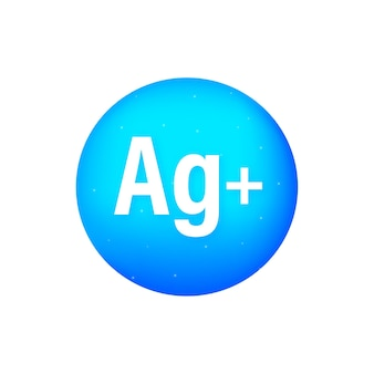 Logo blu argentum su bianco
