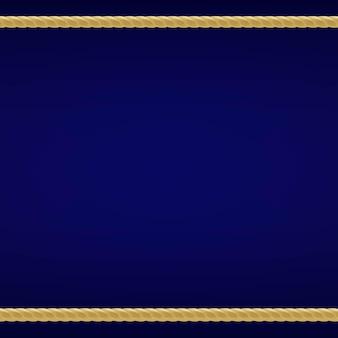 Sfondo blu con corda