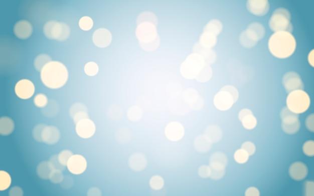Sfondo blu bokeh con effetto sfocato