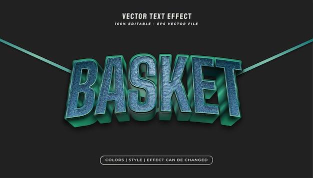 Stile di testo in grassetto blu con effetto texture plastica