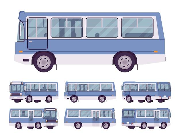 Set di autobus blu