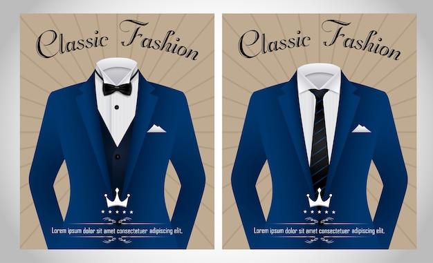Modello blu del vestito di affari