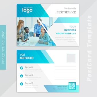 Blue busness post card design