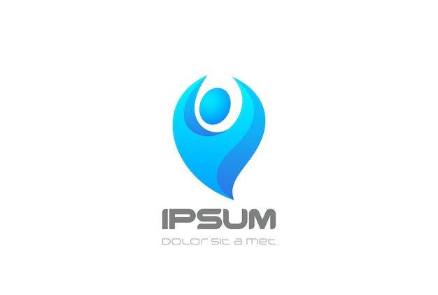 Logo di carattere blu.