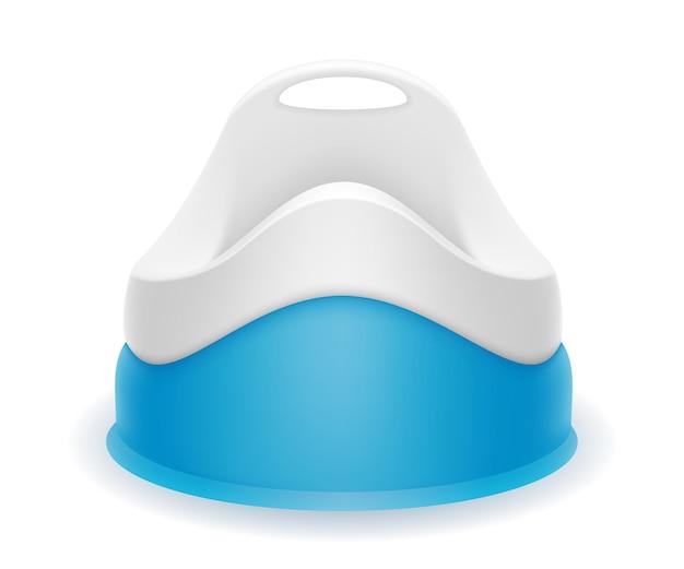 Vasino per bambini blu su bianco