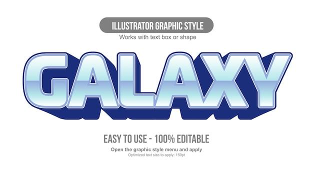 Tipografia sportiva di gioco 3d cromata blu