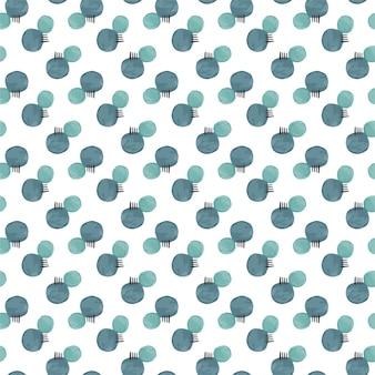 Motivo a strisce e cerchio blu