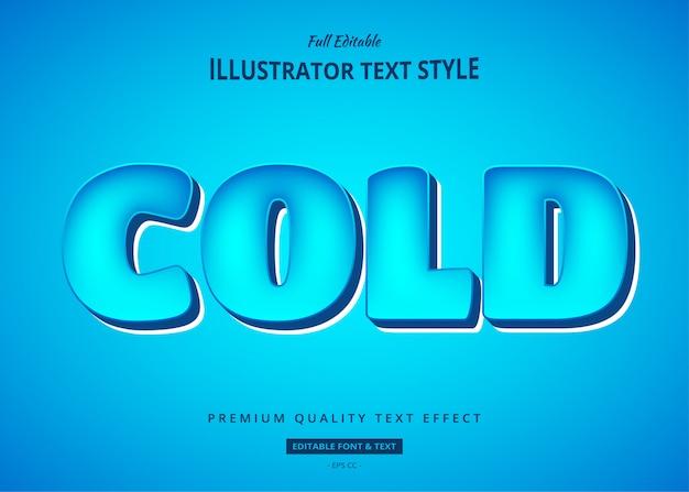 Effetto blu freddo di stile del testo 3d