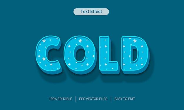 Effetto freddo blu di stile del testo della neve
