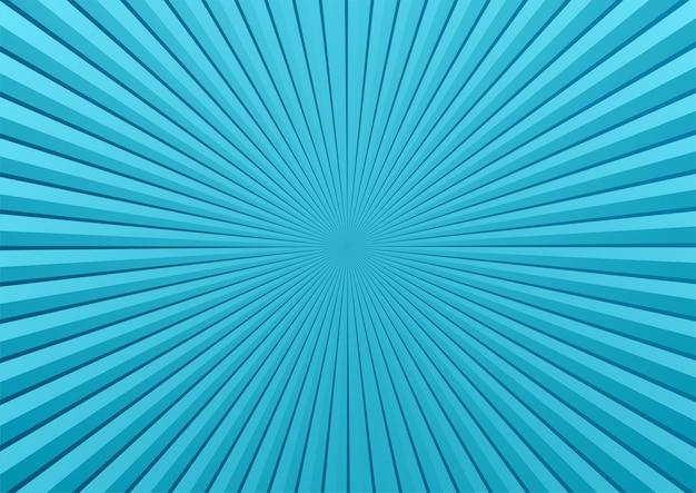Sfondo blu fumetto pop art con sprazzo di sole