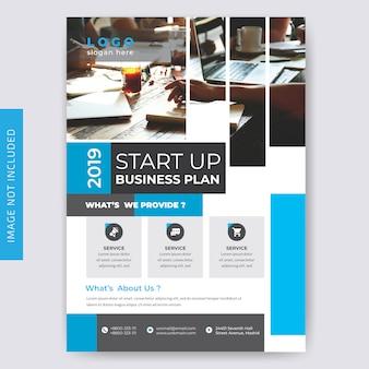 Brochure aziendale blue flyer per le imprese