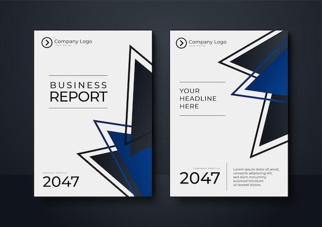 Copertina identità aziendale blu disegno vettoriale aziendale, brochure flyer pubblicità sfondo astratto, modello di layout rivista depliant moderno poster, relazione annuale per la presentazione