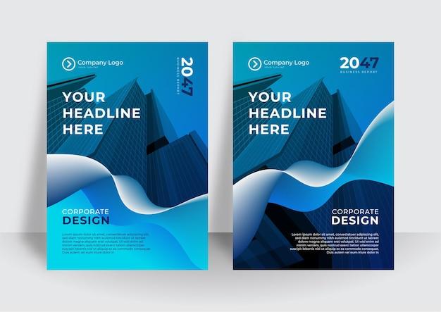 Proposta di business di vettore curva blu, depliant, brochure, modello di volantino, progettazione del layout di copertina del libro, modello di presentazione aziendale astratto, design in formato a4