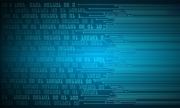 Priorità bassa di concetto di tecnologia futura del circuito cyber blu