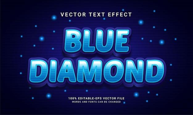 Colore blu a tema effetto testo modificabile con diamante blu