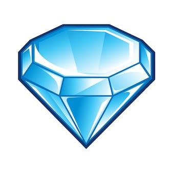 Icona di diamante blu
