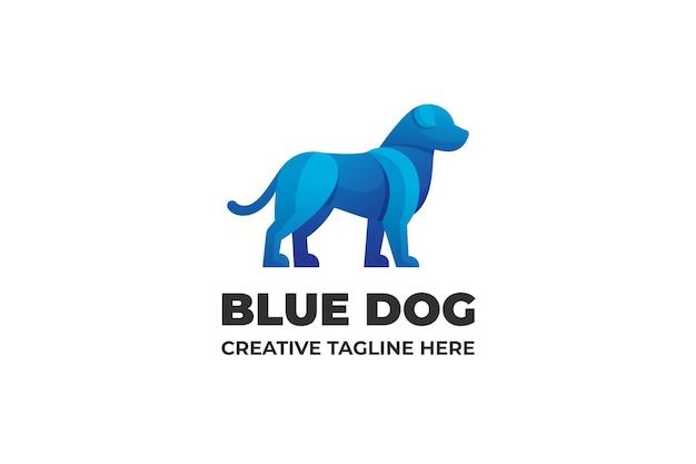 Business con logo sfumato cane blu
