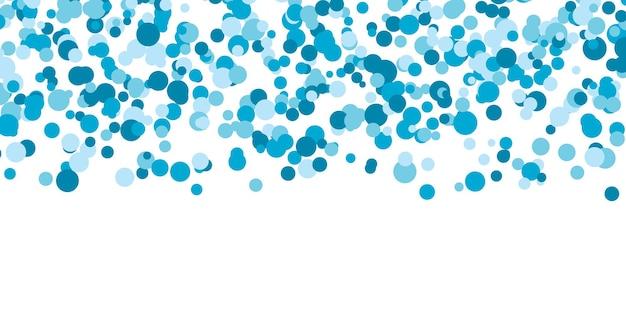 Priorità bassa di colore del punto blu. punti di colore che cadono.