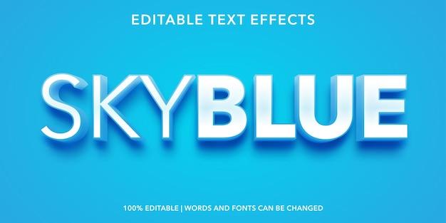 Effetto testo modificabile blu