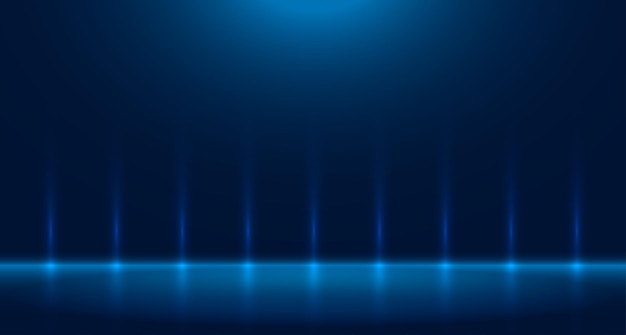 Studio di stanza vuota blu utilizzato per lo sfondo e la visualizzazione di banner di progettazione di contenuti per la pubblicità
