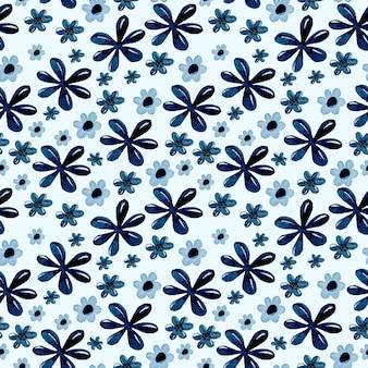 Reticolo senza giunte dell'acquerello del fiore blu