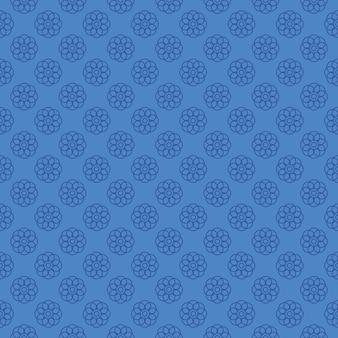 Motivo a fiori blu