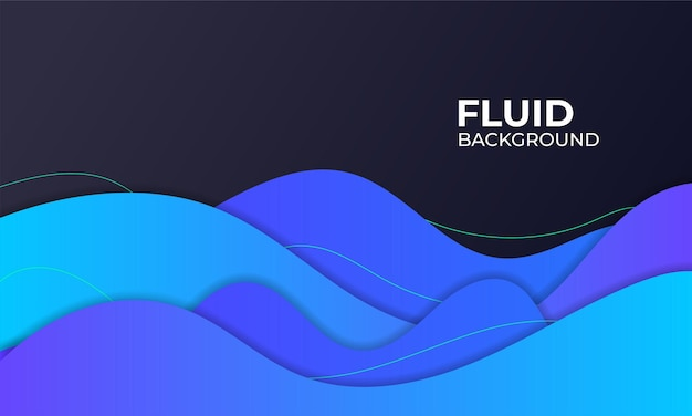 Illustrazione di sfondo fluido blu