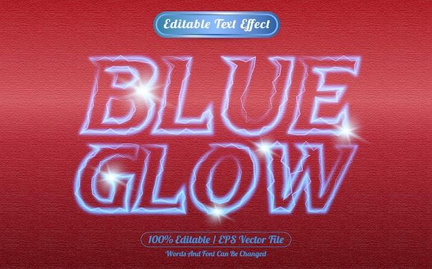 Effetto di testo modificabile bagliore blu a tema luce