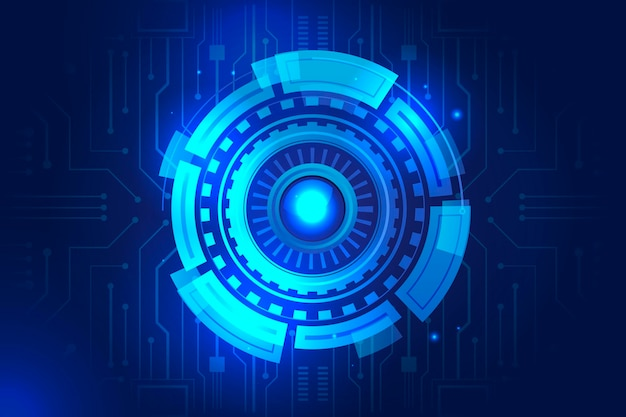 Sfondo tecnologia futuristica sfumatura blu