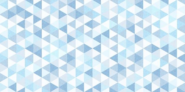 Modello triangolare sfumato blu con trafori circolari all'interno, sfondo poligonale geometrico astratto