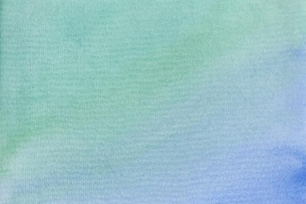 Sfondo acquerello astratto verde blu