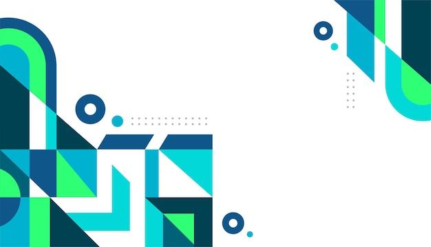 Vettore di sfondo geometrico blu e verde