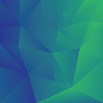 Estratto del modello poligonale blu verde