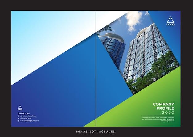 Blue greencopertina del profilo aziendale aziendale