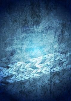 Fondo geometrico blu di tecnologia di lerciume. disegno vettoriale