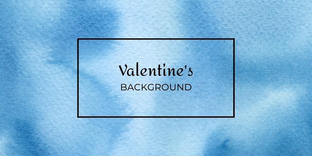 San valentino di struttura dell'acquerello disegnato a mano blu