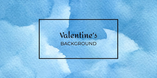 San valentino acquerello disegnato a mano blu