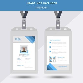 Design carta d'identità blu