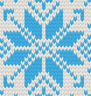 Blue jacquard fairisle seamless knitting pattern. e include anche
