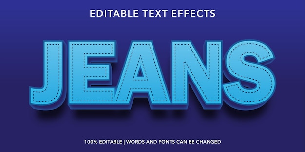 Effetto di testo modificabile blue jeans
