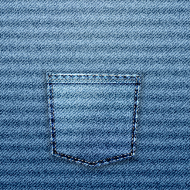 Tasca per jeans blu.